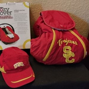 USC Baby Hat and Car Seat Cover
